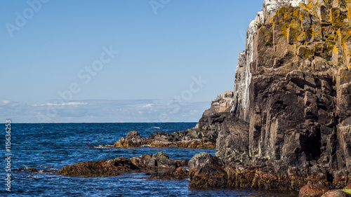 Poster Cote Granite cliff sides of the northern part of the island of Bornholm in Denmark