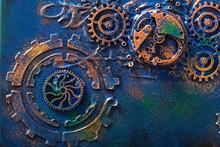Handmade Steampunk Background ...
