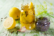 Pickled Lemon With Lavender