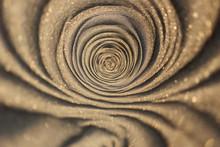 Texture Swirl Of Golden Sand