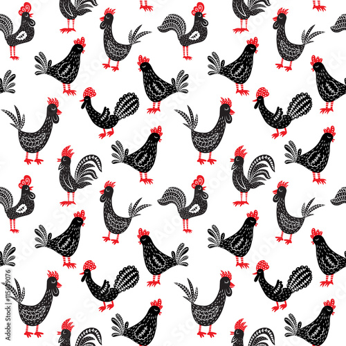 seamless-roosters-pattern