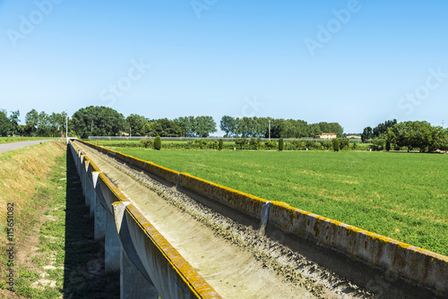 Poster Channel High irrigation channel made of cement