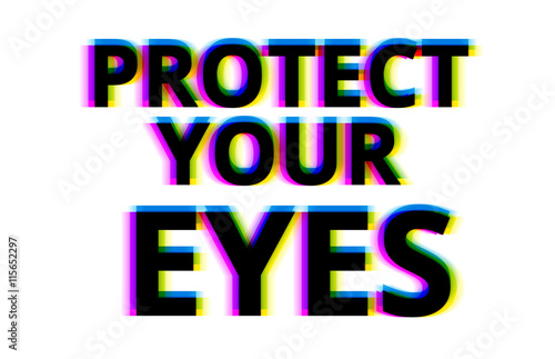 Photo  Protect your eyes illustration backdrop