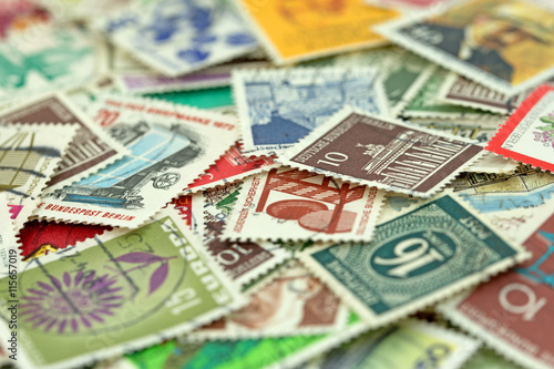 Briefmarken, sammeln, Stamps Fototapete