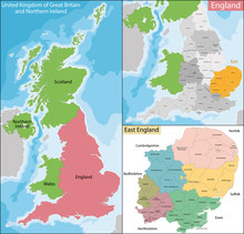 Map Of East England