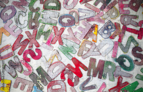 Fotografía  wooden letters
