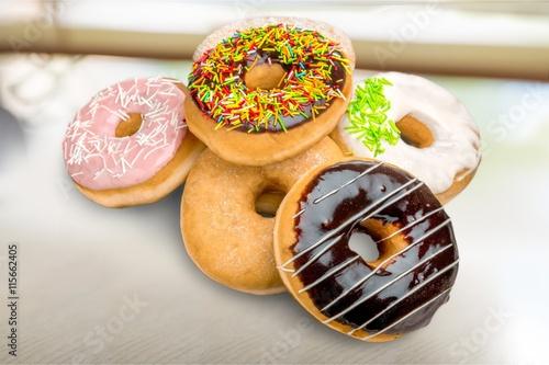 fototapeta na lodówkę Donut.