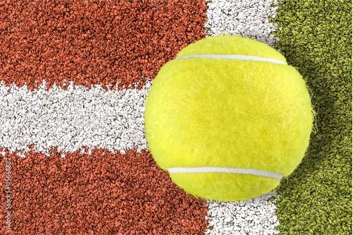 Tennis ball. Poster