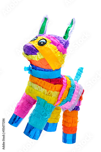 Piñata Donkey Mexican Party - Buy this stock photo and explore