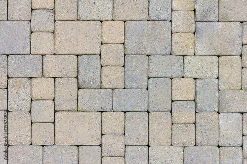 Fotografia, Obraz Garden Patio Stone Pavers Top View