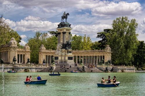 Spoed Foto op Canvas Madrid Madrid, Retiro-Park