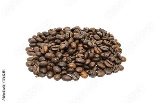 Aluminium Prints Coffee beans Coffee beans isolated on white background.
