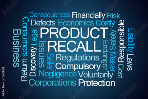 Fotografie, Obraz  Product Recall Word Cloud