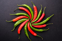 Red And Green Hot Chillies, Ar...