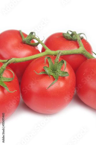 Pomodori Rossi Tondi Isolati Su Sfondo Bianco Buy This Stock Photo
