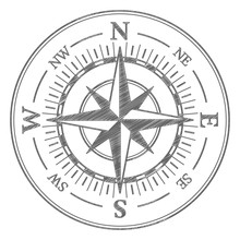 Compass Scribble Icon