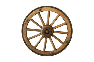 brown old wooden wheel