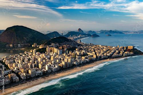Fotografiet  Ipanema beach in Rio de Janeiro