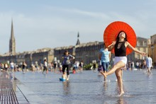 Asian Woman Tourist In France