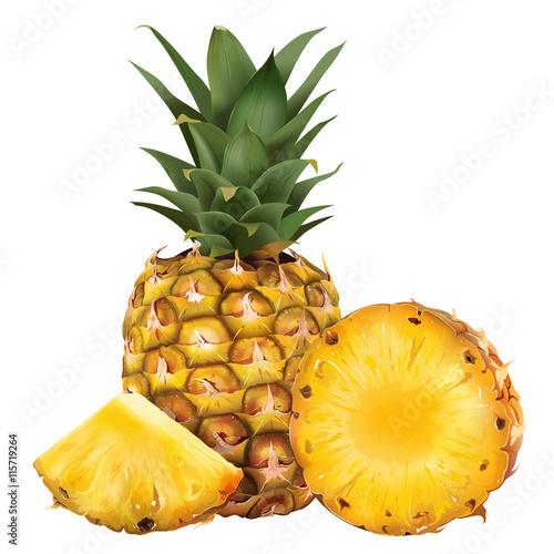 dojrzaly-ananas-na-bialym-tle