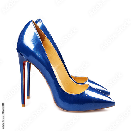 Fotografia  blue female shoes