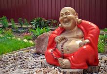 Wooden Hotei Statue