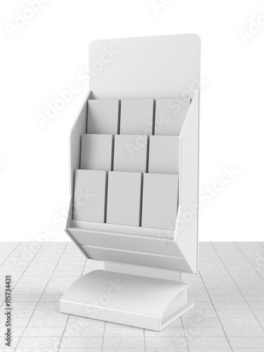 Fotografie, Obraz  dispenser display with magazines or catalogues