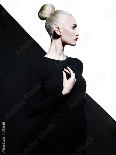 Recess Fitting womenART Elegant blode in geometric black and white background