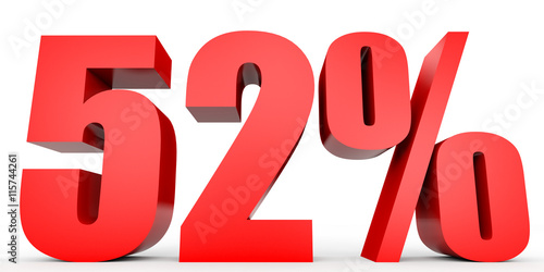 Tela  Discount 52 percent off. 3D illustration.