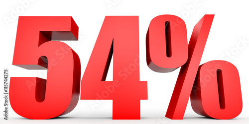 Fotografia  Discount 54 percent off. 3D illustration.