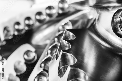 Obraz The drill bit, shot close-up with shallow depth of field. - fototapety do salonu