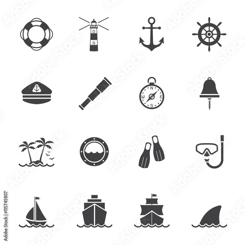 Fotografie, Obraz Marine and nautical icon