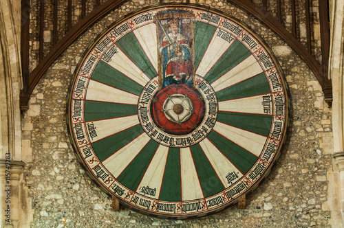 King Arthur's round table in Winchester, UK Canvas Print
