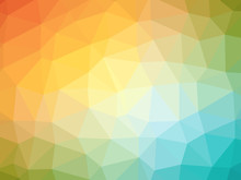 Rainbow Orange Blue Gradient Polygon Shaped Background