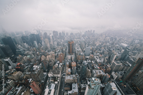 mata magnetyczna New York cityscape from the top of Empire State Building.