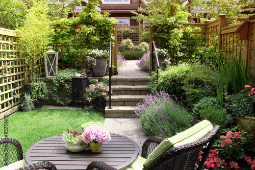 Foto op Aluminium Tuin Small garden