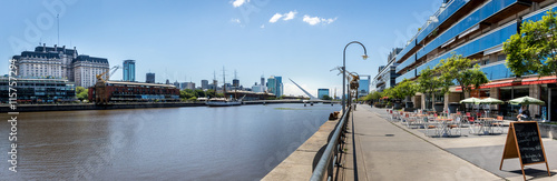 Spoed Fotobehang Buenos Aires Panoramic View of Puerto Madero - Buenos Aires, Argentina