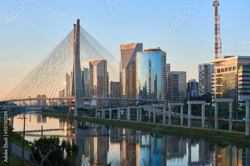 Canvas Prints Brazil Sao Paulo Estaiada Bridge Brazil