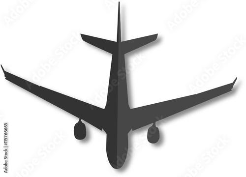 Fotografering  Flugzeug. Piktogramm. Vektor