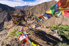 Prayer Flags On The Top Of Mou...