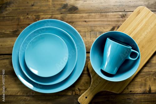 Fotografia  青い食器