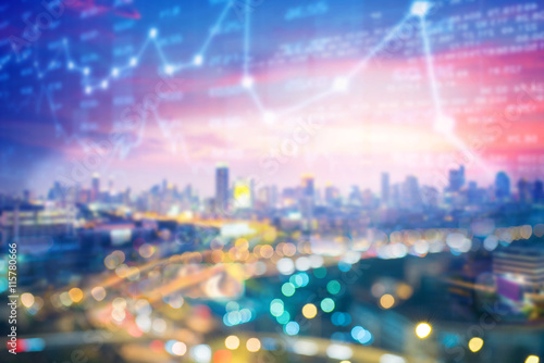 Fotografie, Obraz  City business concept background.