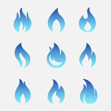 Gas Flames Vector Icons