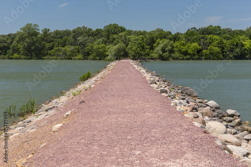 obraz PCV Causeway Across Lake
