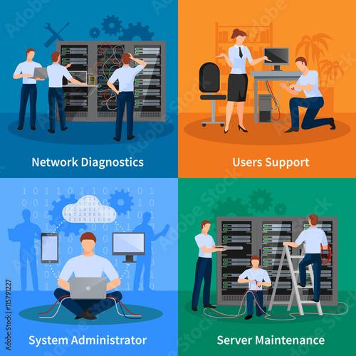 IT Administrator 2x2 Design Concept
