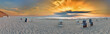 canvas print picture - Sylt Kampen rotes KLiff Panorama Sonnenuntergang