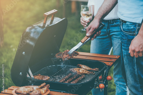 Photo Stands Grill / Barbecue Barbecuing to perfection.