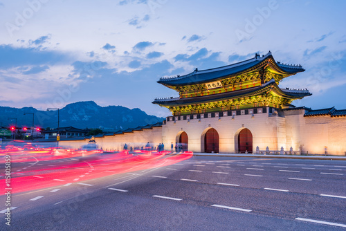 Gyeongbok palace in Seoul City, South Korea Poster
