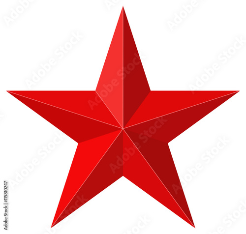 Valokuva  Red star 3D shape