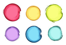 Colorful Vector Grunge Circle Collection